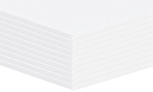 Altera CE868W 10 Stück Leichtschaumplatte, Leichtstoffplatten Weiss Format: A1 (59,4x84,1cm)
