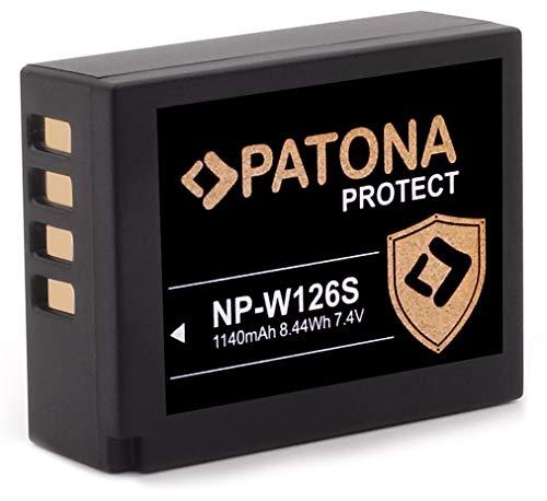 PATONA Protect V1 Akku NP-W126s NP-W126 (1140mAh) mit NTC-Sensor und V1 Gehäuse - ohne Verwendungseinschränkung
