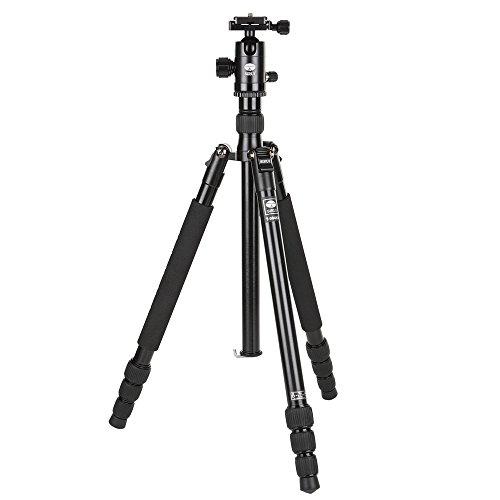 SIRUI T-004X Traveler Light Dreibeinstativ + C-10X Kugelkopf *alte Version* (Alu, Höhe: 139cm, Gewicht: 0,95kg, Belastbarkeit: 6kg) schwarz