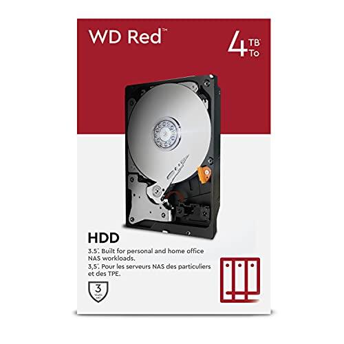 WD Red 4TB NAS 3.5' Interne Festplatte - 5400 RPM Class, SATA 6 Gb/s, SMR, 256MB Cache