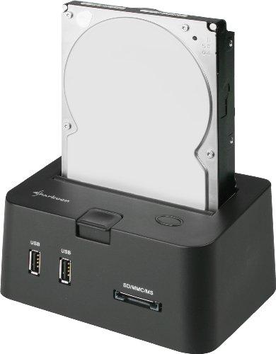 Sharkoon SATA QuickPort PRO - HDD Dockingstation für SATA Festplatten, USB 2.0