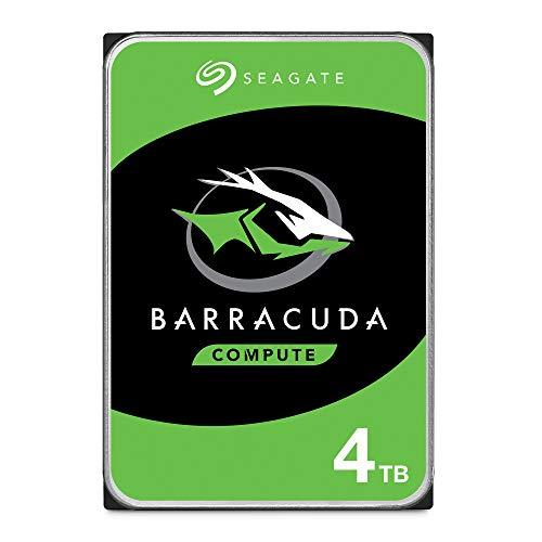 Seagate Barracuda, interne Festplatte 4 TB HDD, 3.5 Zoll, 5400 U/Min, 256 MB Cache, SATA 6 Gb/s, silber, FFP, Modellnr.: ST4000DMZ04/DM004