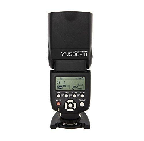 Yongnuo Blitzkamera YN-560 III YN560III für Canon Nikon Olympus Panasonic + WINGONEER Diffusor