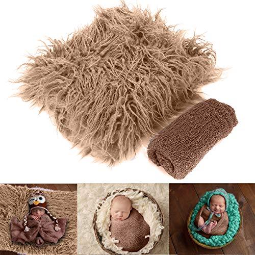 Yinuoday 2 stücke neugeborenes baby fotografie requisiten diy neugeborenen wraps fotografie matte decke für baby jungen und mädchen