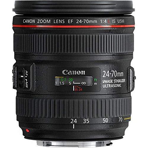 Canon Zoomobjektiv EF 24-70mm F4L IS USM für EOS (77mm Filtergewinde, Autofokus, Bildstabilisator), schwarz
