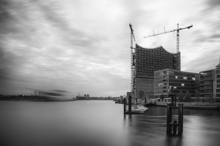 Baustelle der Elbphilharmonie in Hamburg