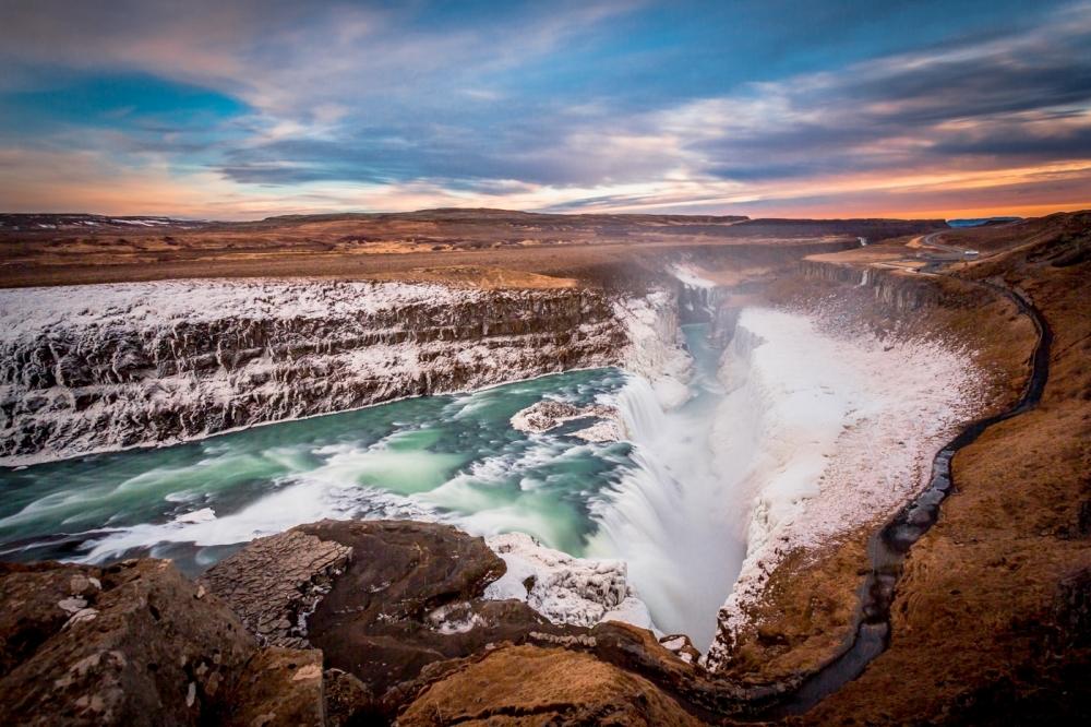 Wasserfall Gullfoss auf Island