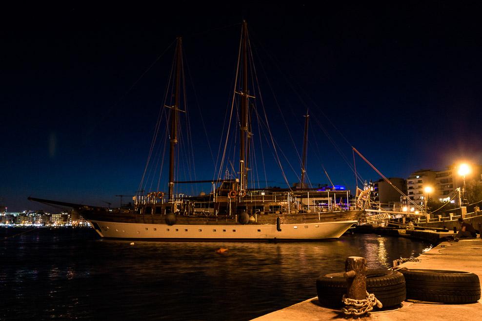 Nachts im Hafen von Sliema