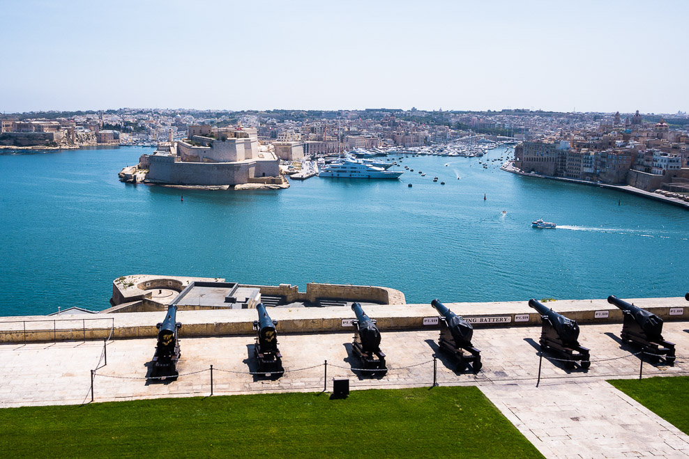 Saluting Battery in den Upper Baracca Gardens, Valletta