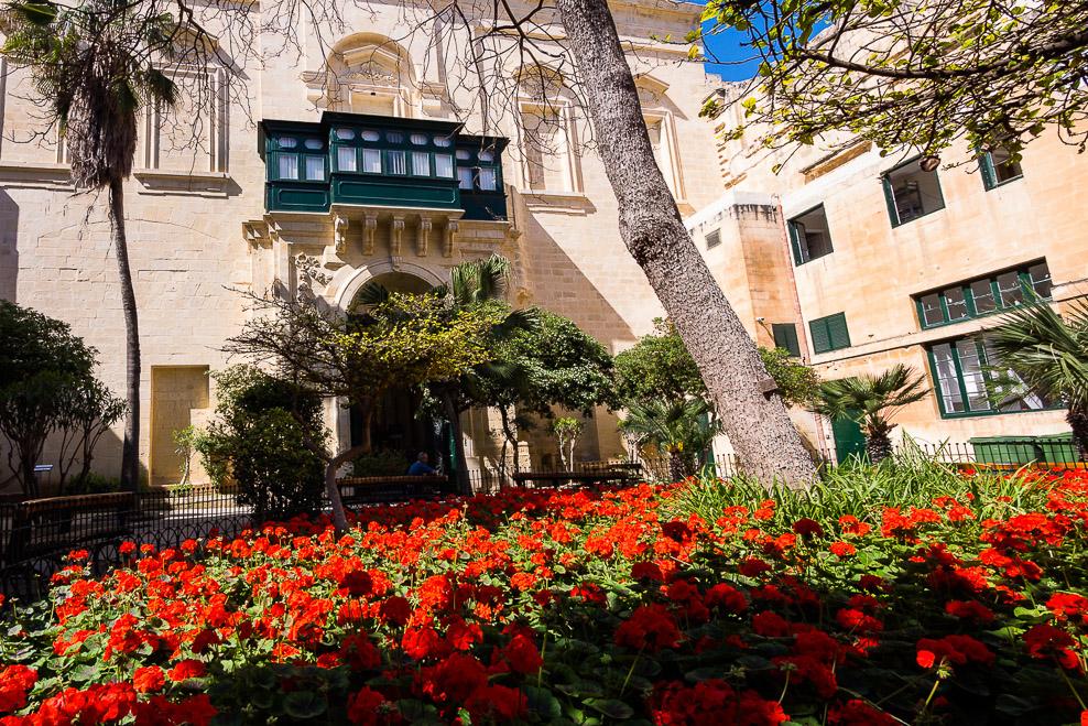 Innenhof des Regierungspalasts Valletta / Malta