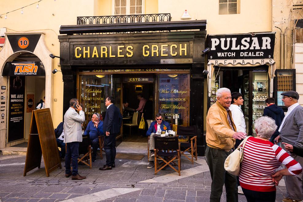 Zigarrengeschäft an der Republic Street in Valletta