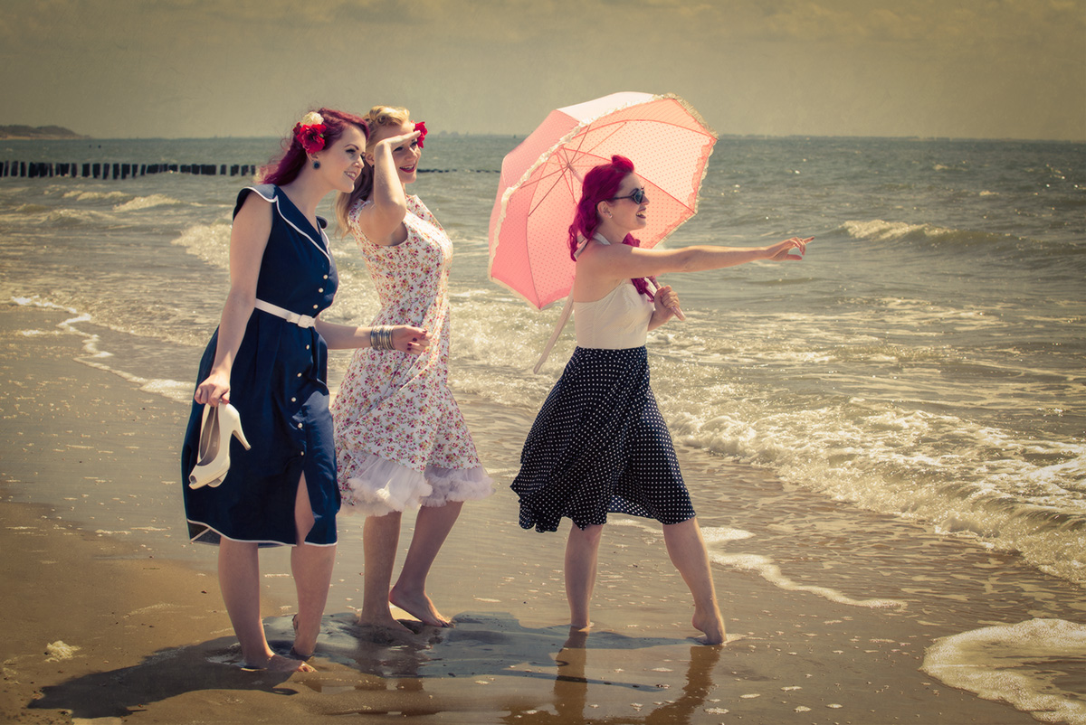 Vintage Shooting am Strand