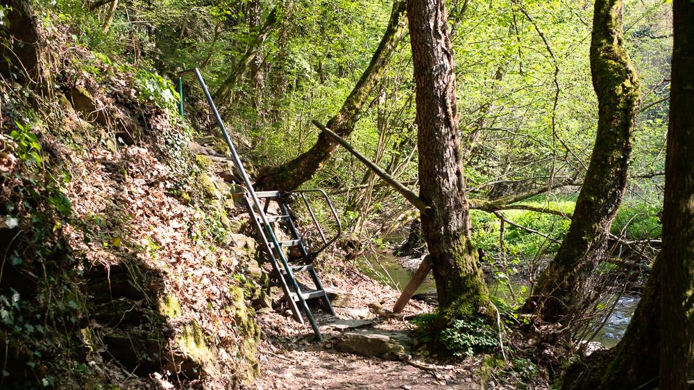 Einige Leitern erleichtern den Weg