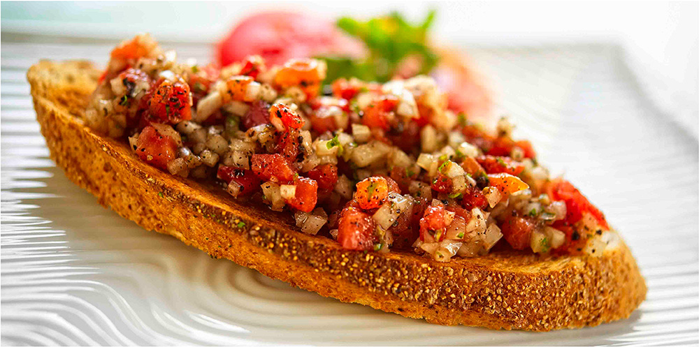Tomatenbrot-Foodfotografie