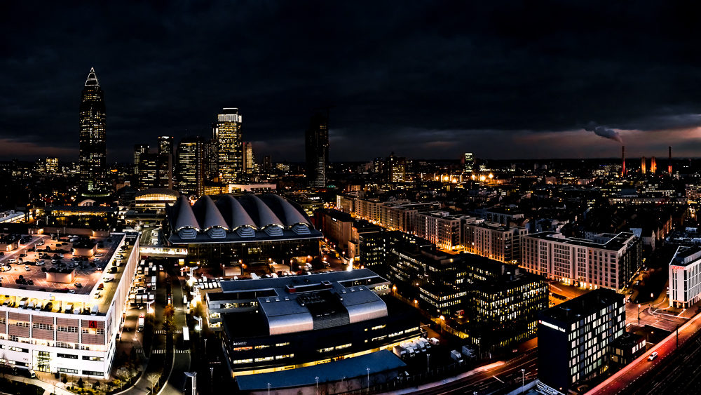 Drohnenfotografie-Nachtaufnahme