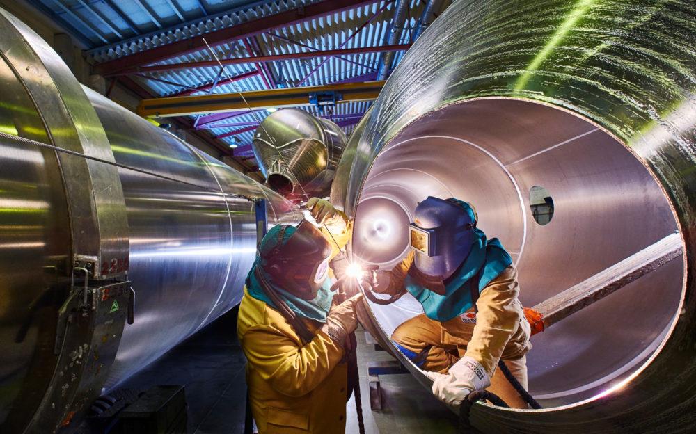 Industriefoto Schweisser