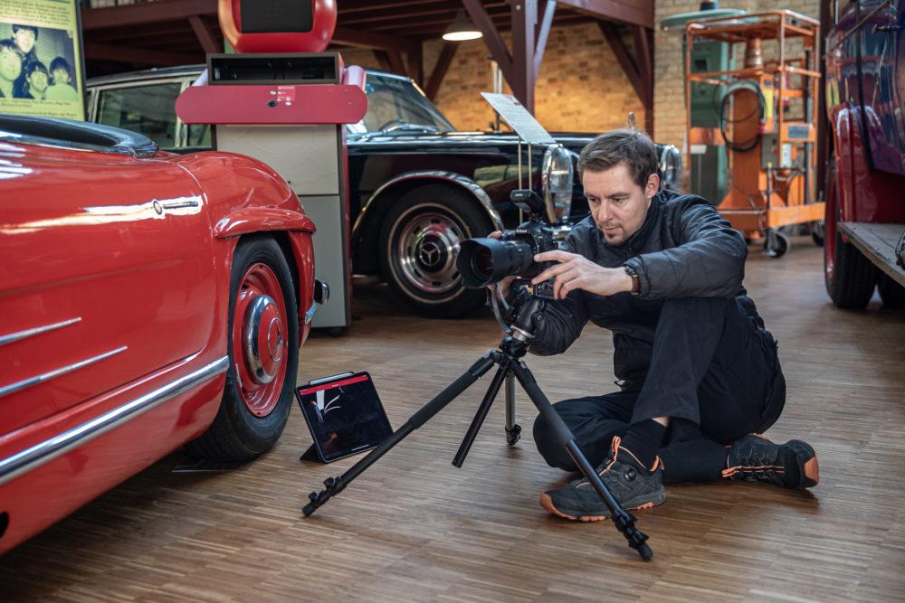 Torsten Krebs im Automuseum Dr. Carl Benz