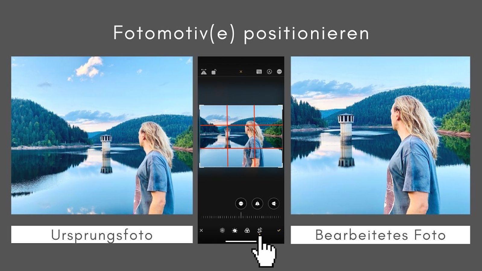 Foto positionieren iPhone