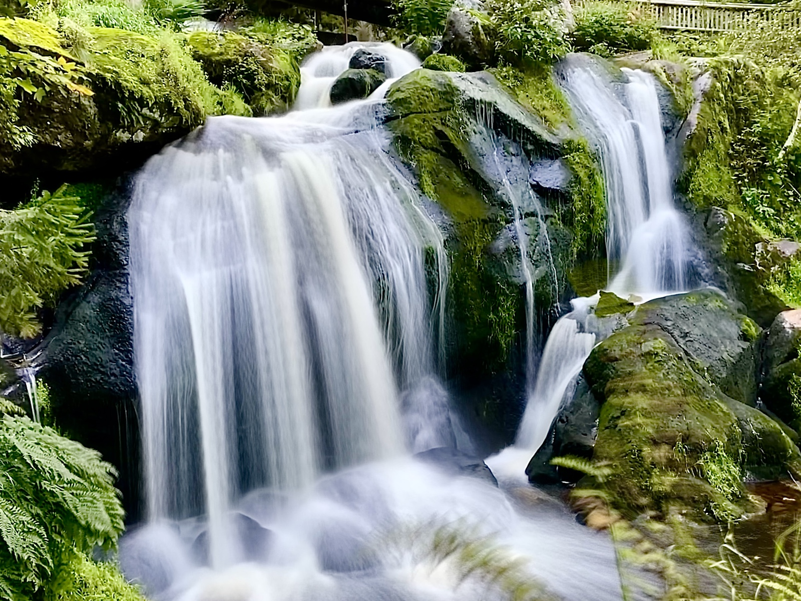 Langzeitbelichtung iPhone Bildbearbeitung Triberger Wasserfaelle
