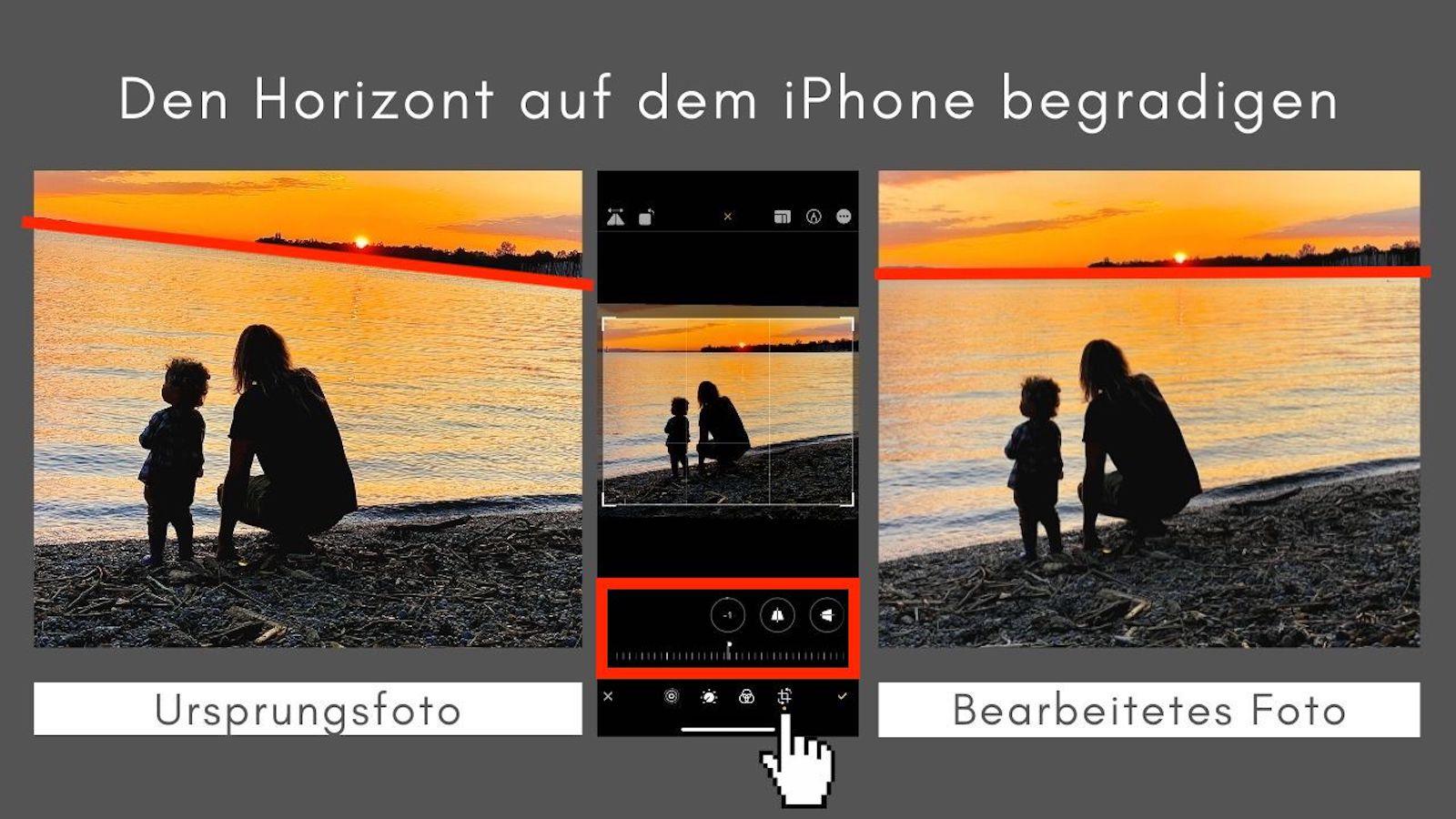 iPhone Bildbearbeitung Horizont begradigen