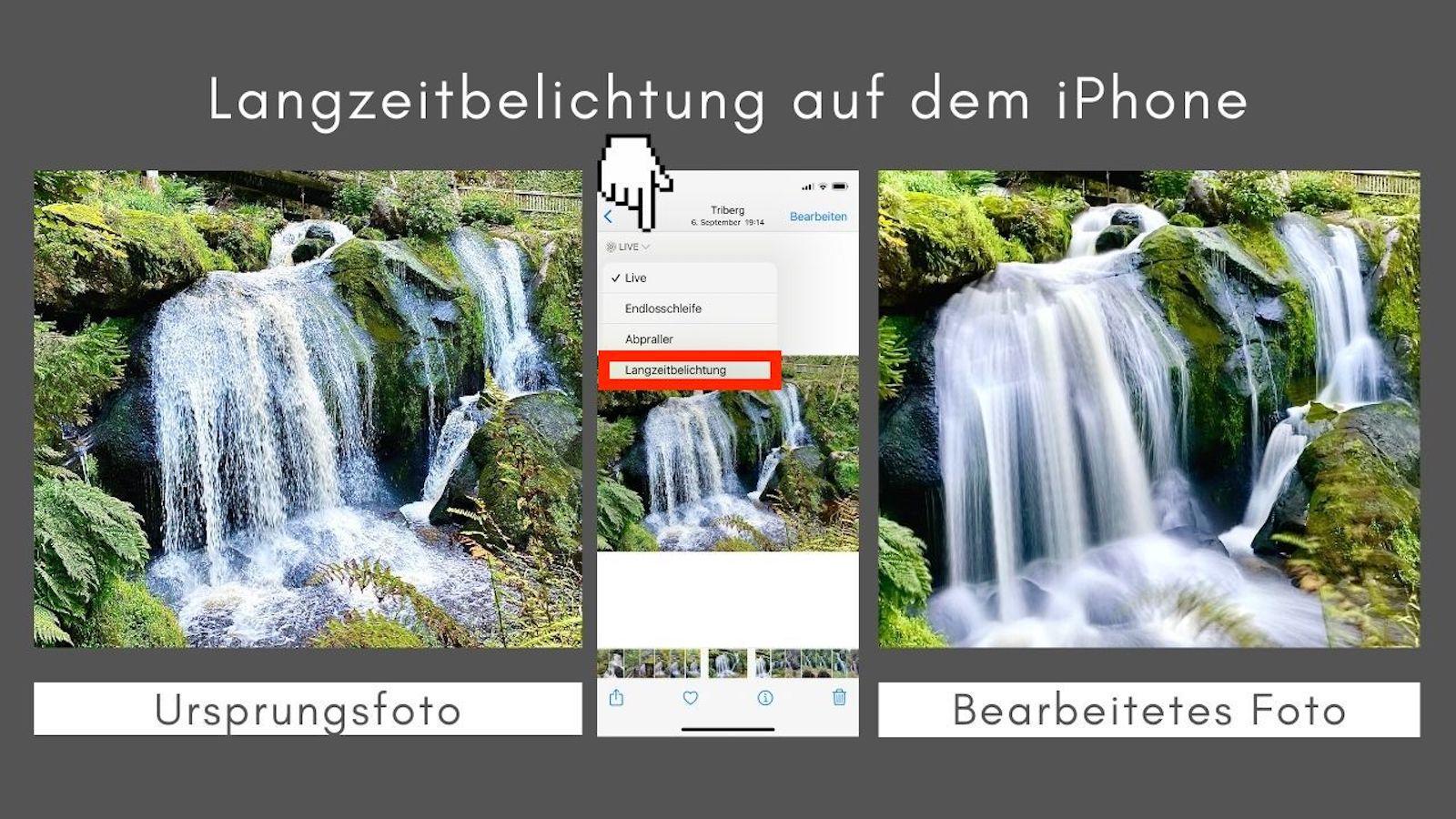 iPhone Bildbearbeitung Langzeitbelichtung